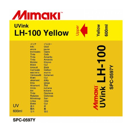 Чернила LH-100 UV LED Yellow, пакет 600 мл
