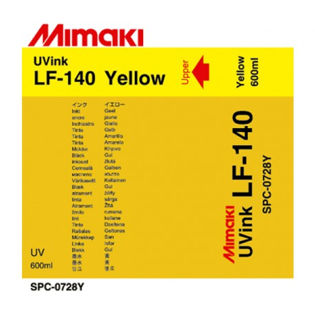 Чернила LF-140 UV LED Yellow, пакет 600 мл